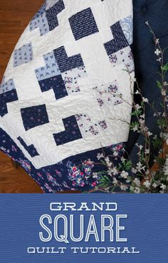 Learn to make this fun Grand Square Quilt PLUS an extra quilt called Do-Si-Do all in one tutorial!