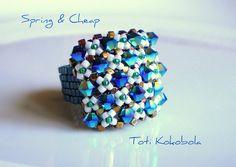 Anillo.. Reto abril beads-perles- non c'è tutorial ma non dovrebbe essere difficile....