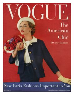 Vogue Cover - March 1957 Poster Print by Karen Radkai at the Condé Nast Collection