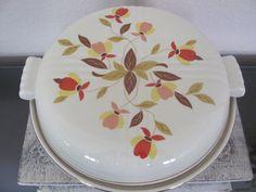 Vintage Autumn Leaf Casserole Dish by Hall's Superior.
