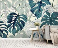Wallpaper Paste, Custom Wallpaper, Wall Wallpaper, Green Leaf Wallpaper, Leaves Wallpaper, 3d Wall Murals, Cleaning Walls, Smooth Walls, Motif Floral