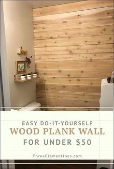 diy wood plank wall 38