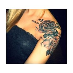 33 Amazing Shoulder Tattoos for Girls and Women Tattoos Mob ❤ liked on Polyvore featuring tattoos