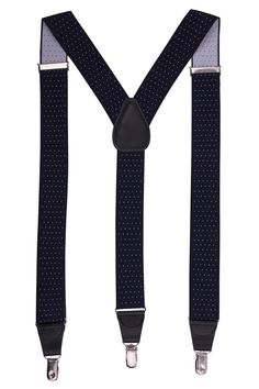 JINIU Men's Fashion Solid Straight Clip On Cool Formal Leather connector Elastic Suspenders Sale:$12.99 & FREE Shipping on orders over $49. FREE Returns. Details You Save:$37.00 (74%) Size: One Size Size Chart Color: Navy Polka