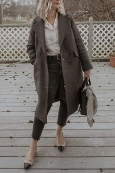 Cold Weather Dresses, Cold Weather Fashion, Winter Fashion, Turtleneck And Blazer, Matching Sweaters, Sailor Pants, Wool Trench Coat, Cotton Cardigan, Winter