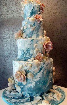 Sea shells by the sea cake