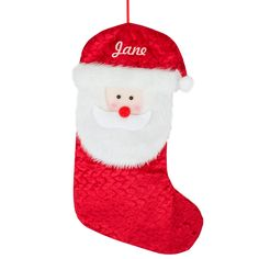 Personalised Santa Christmas Stocking to hang by the fire place £12.99