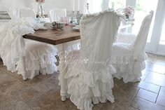 chic chair covers birmingham aeron herman miller manual 248 best french country images lunch room slipcovers all things shabby and beautiful