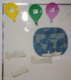 Escola Dominical Infantil ツ: Cartaz: Globo mundial e balão - IESB