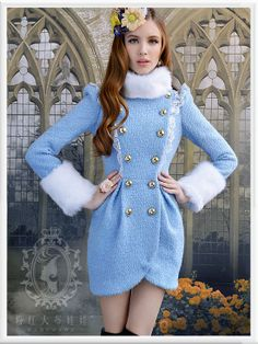 Blue Tulip Double Breast Coat, $109.00