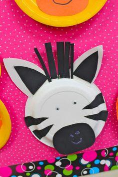 paper plate zebra