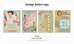 Free printable Vintage Button tags