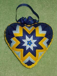 modro-žlté srdce 11 cm