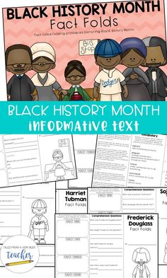 These informative text pieces about Black History Month are wonderful for elementary school students. They'll be exposed to vocabulary, comprehension, and information about famous African Americans. Creative Teaching, Teaching Ideas, Black History Month Facts, Famous African Americans, Reading Tips, Guided Reading, Teaching Social Studies, Teacher Blogs, Writing Resources