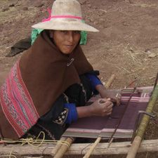 """Asociacion de Artesanos Andinos, Bolivia, Ana Vargas, President of the AAA: """"All of the weavers who work with the AAA feel more proud of our knowledge of weaving and natural dying and now we are sure that if we weave, we will always have a secure income to help our children. I want to thank all the people who buy or appreciate our products, because their purchase helps one of the more than 200 weavers and their families who compose the AAA."""""""