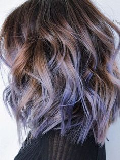 The Hair Trend That Is Taking Over Pinterest, a beauty post from the blog written by Byrdie Beauty on Bloglovin'. Love the purple balayage ...