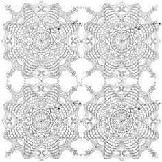 шестиугольные цветочные мотивы крючком - Пошук Google