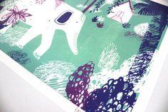 The Royal White Elephant // A4 art print door essillustration