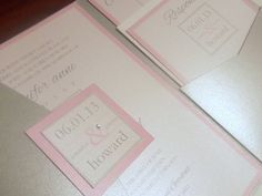 JENNIFER Pocketfold Wedding Invitation with by RossiInvitations, $5.50