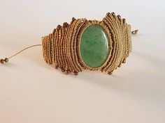 Hey, I found this really awesome Etsy listing at https://www.etsy.com/listing/534085966/aventurine-gold-green-macrame-bracelet