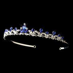 Beautiful! Sapphire Blue Rhinestone Princess Tiara(http://www.affordableelegancebridal.com/sapphire-blue-rhinestone-princess-tiara/)