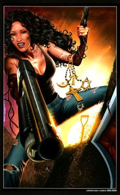 Laurell K. Hamilton's Anita Blake, Vampire Hunter. Illustration by Greg Horn.