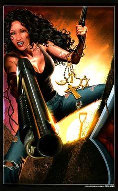 Laurell K. Hamilton's Anita Blake, Vampire Hunter. Illustration by Greg Horn.