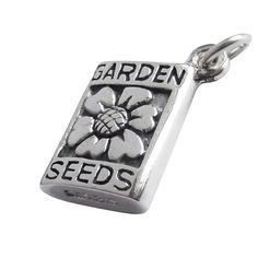 Packet of Seeds Charm   Silver Star Charms #flower