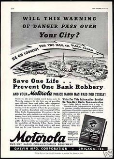 Motorola Two Way Police Radio Life Saver (1941)