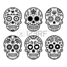 25 Images Tete Mexicaine Agréables Candy Skulls Sugar Skull Et