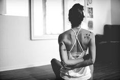 mayur-asana:  shoulder stretch - yoga by {IP} by Amelia on Flickr.