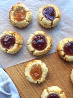 Lemongrass and Strawberry Thumbprint Cookies