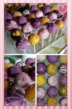 Cakepops para el cumple de Sara, mi sobrina de limon y fresa....ummmmm