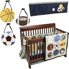 One of the very few multi-sports crib bedding sets I like! :)