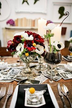 Love the idea of the vintage photos scattered on the table!