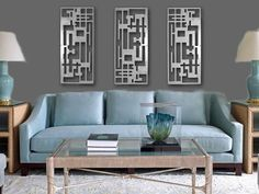 Contemporary Wall Art Decor retro modern metal sculpture art abstract mid century contemporary