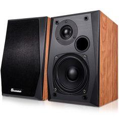 """Portable Speaker Stereo Sound 4"""" Woofer Music Bookshelf Wall Mount Table Top New #PortableSpeakerStereo"""