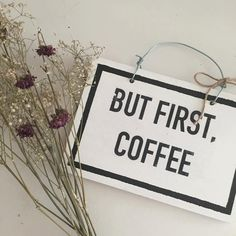 Brandy Melville But First Coffee Sign by Sukidayoo on Etsy