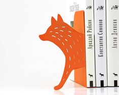 Bookends++Reading+Fox++laser+cut+for+by+DesignAtelierArticle,+€39.00