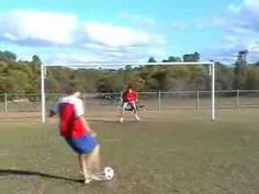 Soccer ball rebounds and hits goalie in head! 60k+ views!