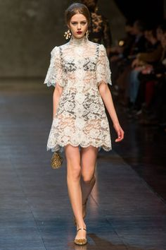 714d49cacee6f Lingerie Inspired Fashion  Dolce and Gabbana AW13 14 High Fashion
