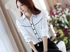 Baju Kemeja Wanita Lengan Panjang