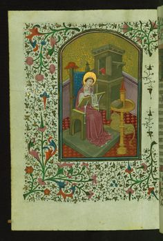 St. Jerome in the Study  Text: Devotional sequence: Psalter of St. Jerome - Book of Hours-Bruges-W246