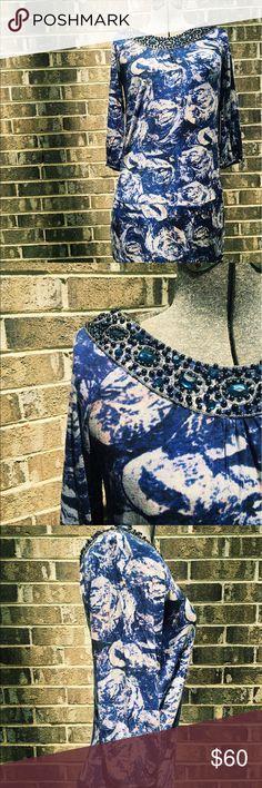 BCBG Jewel Cocktail Dress NWT BCBG Max Azria cocktail dress. Knit fabric, jewel adornment around neckline.  ✨thanks for looking! ✨make an offer! ✨bundle and save! BCBGMaxAzria Dresses