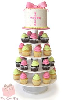 Click to enlarge First Communion Cupcake Tower