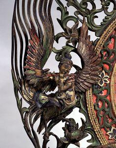 文殊菩薩騎獅像および侍者立像