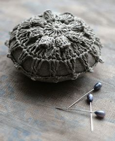 linen pin cushion