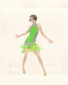"""""""MILLIE"""" original design sketch by Robert Perdziola for Sutton"""
