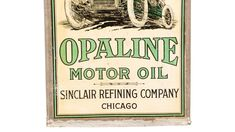 Sinclair Opaline Motor Oil Race Car Graphic Oil Can presented as Lot at Walworth, WI Opaline, Race Cars, Auction, Racing, Vintage, Oil, Drag Race Cars, Running, Auto Racing