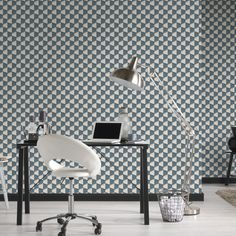 AS Creation Square 3D Effect Blue White Wallpaper - http://godecorating.co.uk/creation-square-3d-effect-blue-white-wallpaper/